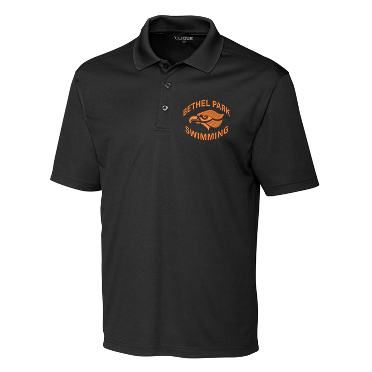 Clique Men's Embroidered Polo Spin Dye Pique with Bethel Park Swimming logo  $42.00 $27.00